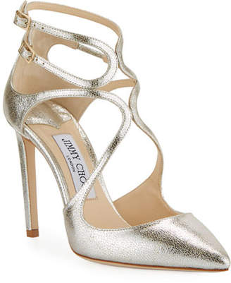 Jimmy Choo Lancer Metallic Leather Pumps