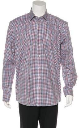 Neiman Marcus Button-Up Woven Shirt