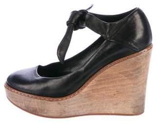 Chloé Ankle Strap Wedge Pumps