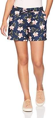 "Amazon Essentials Women's 5"" Drawstring Patterned Linen Short"