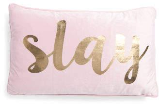 12x20 Velvet Foil Printed Slay Pillow