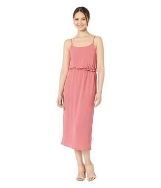 American Rose Kaytlyn Midi Dress with Back Slit
