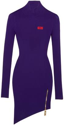 GCDS Asymmetrical Sweater Dress