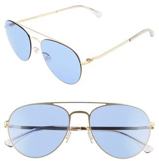 Mykita Samu 55mm Aviator Sunglasses
