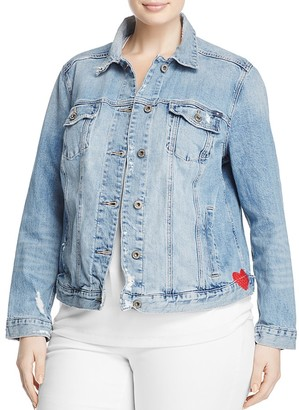 Lucky Brand Plus Embroidered Denim Jacket $119 thestylecure.com