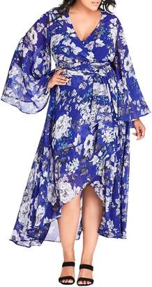 City Chic Bluebird Maxi Dress
