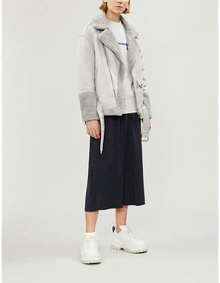 Izzue Asymmetric faux-shearling jacket