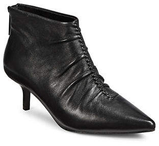 Isaac Mizrahi IMNYC Ruched Leather Booties