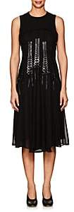 Noir Kei Ninomiya Women's Lace-Front Georgette Sleeveless Dress - Black