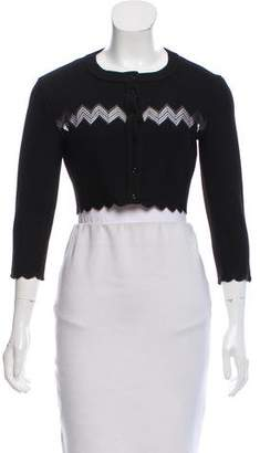 Alaia Cropped Button-Up Cardigan