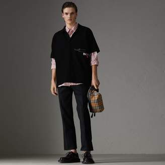 Burberry Stripe Oversized Polo Shirt