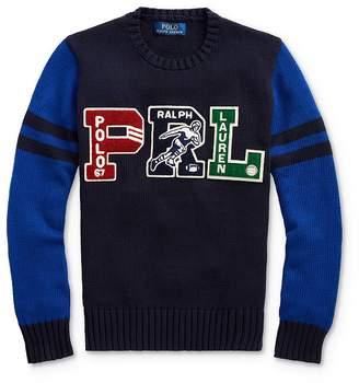 Ralph Lauren Boys' Letterman Sweater - Big Kid
