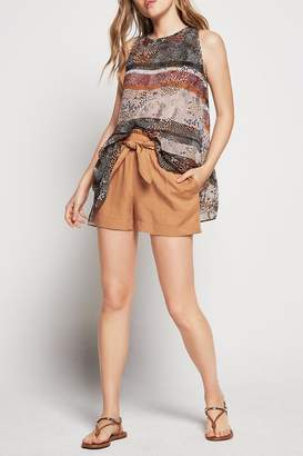 BCBGeneration Tie Waist Short