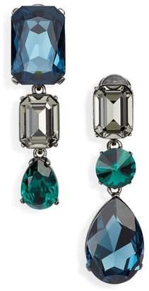 Oscar de la Renta Bold Crystal Drop Earrings