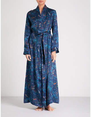 Derek Rose Brindisi silk-satin dressing gown