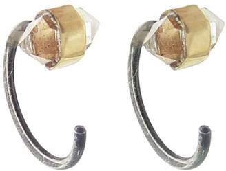 Melissa Joy Manning Herkimer Diamond Hug Earrings - Mixed Metal