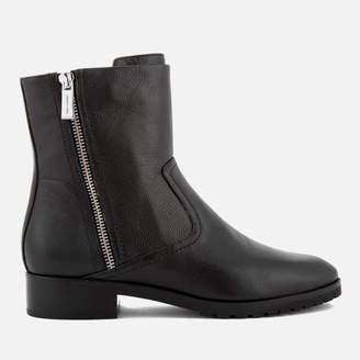 MICHAEL Michael Kors Women's Andi Leather Biker Boots - Black