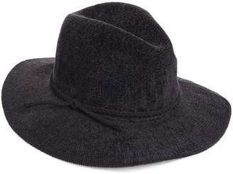 Scala Women's Chenille Faux Suede Trim Safari Hat