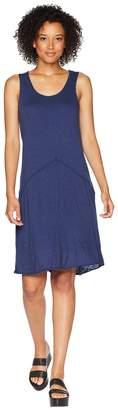 Mod-o-doc Featherweight Slub Jersey Raw Edge Seamed Tank Dress Women's Dress