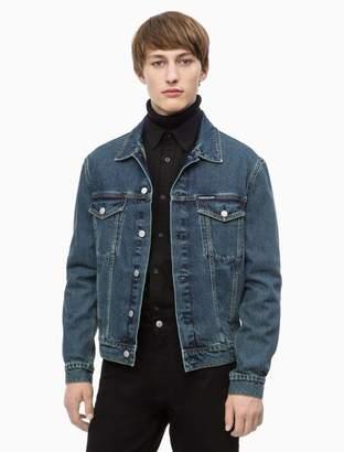 Calvin Klein blue wash denim trucker jacket