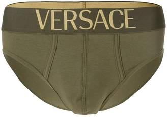 Versace logo waistband briefs