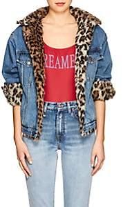Couture Forte Dei Marmi Women's Faux-Fur-Lined Denim Crop Jacket - Lt. Blue