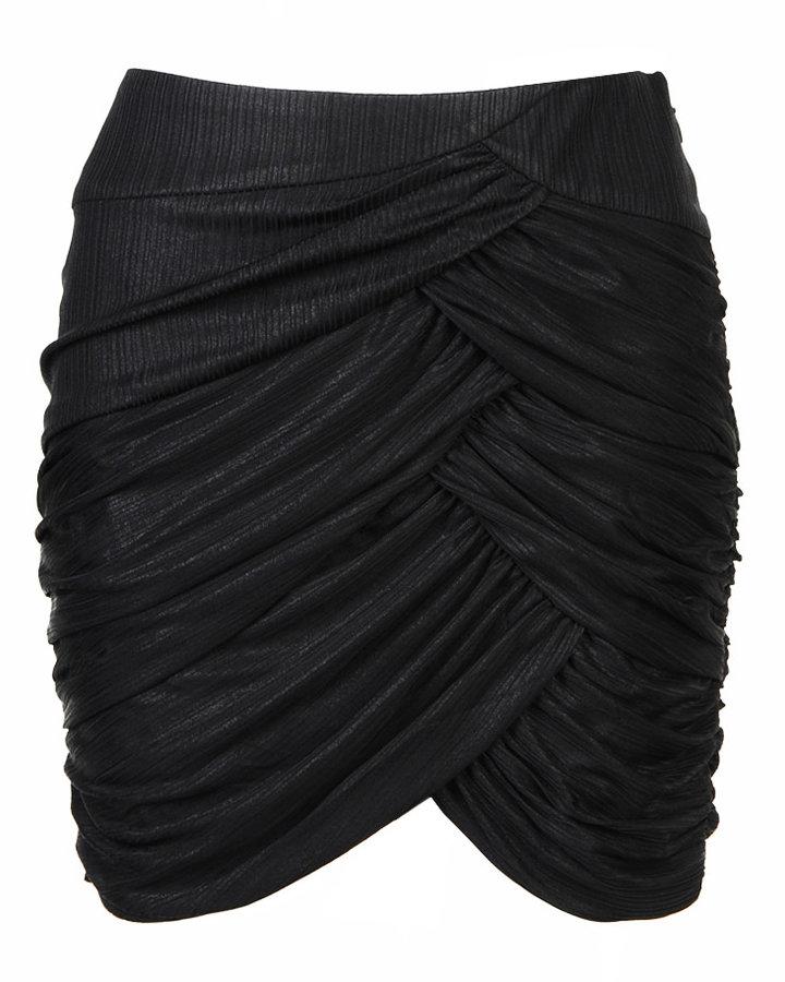 Metallic Drape Skirt