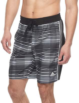 adidas Men's Vara Striped Microfiber Volley Shorts