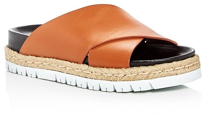 MarniMarni Fussbett Crisscross Platform Slide Sandals