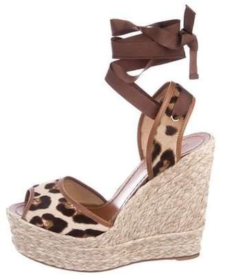 Dolce & Gabbana Ponyhair Espadrille Wedges