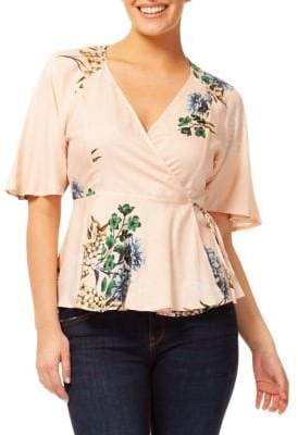 Dex Floral Wrap Top