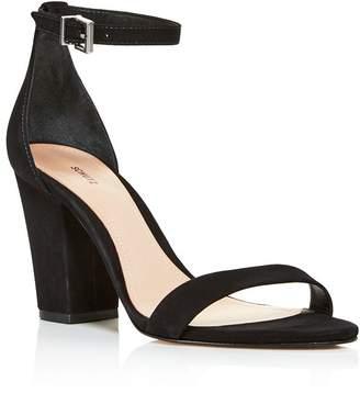 52bf514567bd Schutz Women s Jenny Lee Suede Ankle Strap Block Heel Sandals