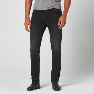DSTLD Skinny-Slim Jeans in Black Worn