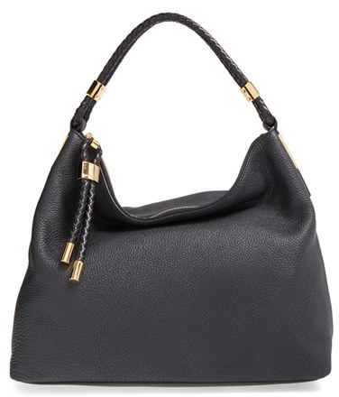 MICHAEL Michael Kors Michael Kors 'Large Skorpios' Leather Hobo - Black