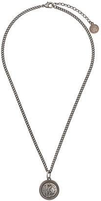 engraved logo necklace