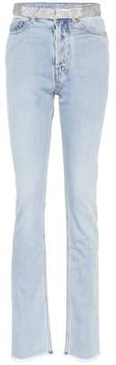 Alexandre Vauthier Embellished high-waisted jeans