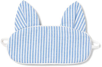 Petite Plume Kids' Kitty Seersucker Eye Mask