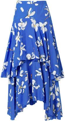 Isa Arfen printed ruffle skirt