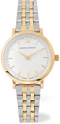 Larsson & Jennings Lugano Vasa Gold-plated And Stainless Steel Watch
