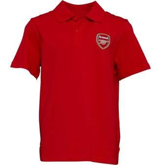 Puma Junior Boys AFC Arsenal Royal Crest Polo High Risk Red