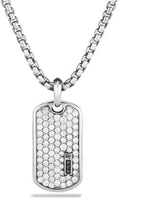 David Yurman Small Pavé Tag with Diamonds