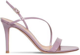 Gianvito Rossi 85MM MANHATTAN PATENT LEATHER SANDALS