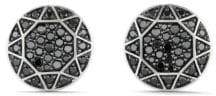 David Yurman Men's Pave Black Dimonds Round Cufflinks
