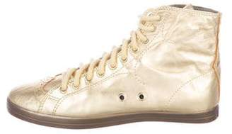Paul Smith Metallic High-Top Sneakers
