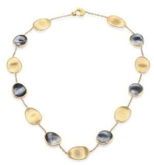 Marco Bicego Lunaria Black Mother-Of-Pearl& 18K Yellow Gold Necklace