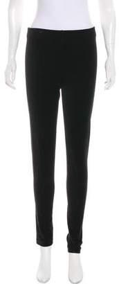 Ralph Lauren Black Label Velvet Mid-Rise Pants