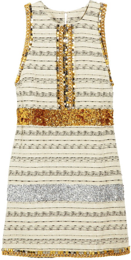 By Malene Birger Callinga embellished striped tweed dress