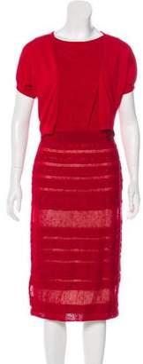 Giambattista Valli Knit Midi Dress Set