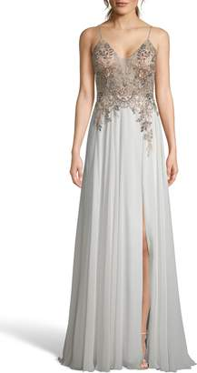 Xscape Evenings Open Back Embellished Evening Dress