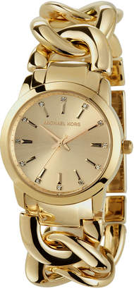 MICHAEL Michael Kors 35mm Elena Chain Bracelet Watch, Golden